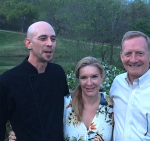 Mike and Adrienne Albers and Chef Matt, DelFosse Vineyards