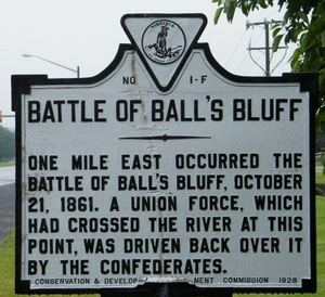 Battle of Balls Bluff marker
