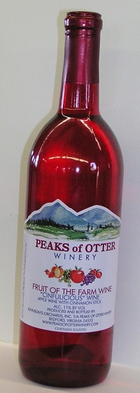 Peaks of Otter Winery Cinfulicious