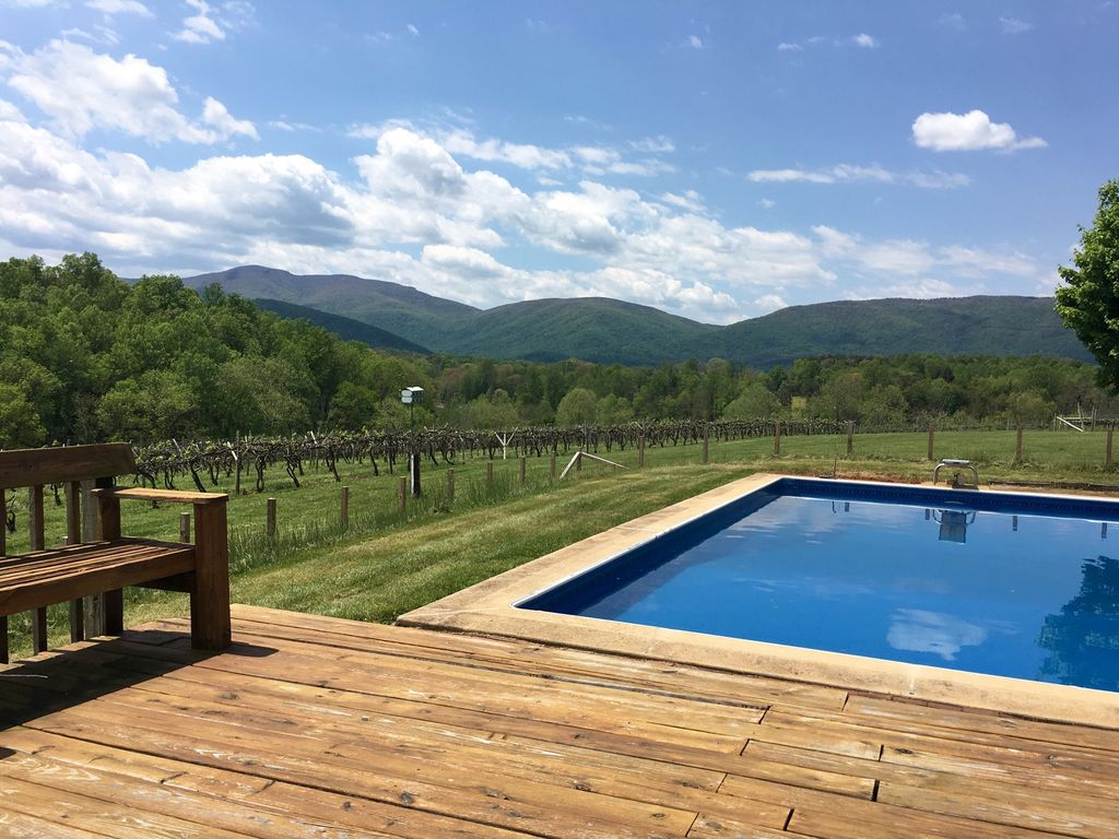 Pool at Cardinal Point Winery Farmhouse