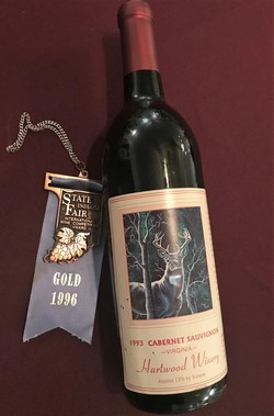 Hartwood Winery gold medal
