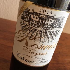 Keswick Vineyards' 2014 Cabernet Franc Estate Reserve