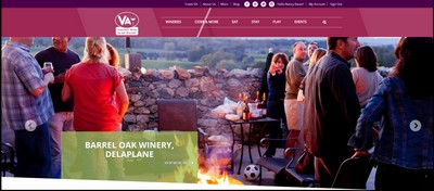 VA Wine in My Pocket website