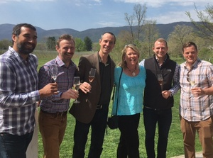 Veritas Vineyards brunch with winemakers and Nancy Bauer